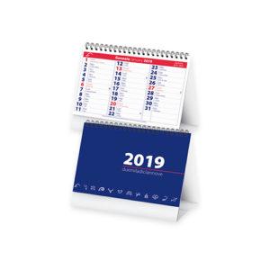 Calendario da tavolo mensile 13 fogli in carta bianca 90 gr con