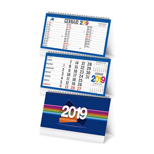 Calendario 2020 Da Tavolo.Calendario Da Tavolo Mensile 13 Fogli Con Spirale Supporto In Cartoncino E Tabella Anno 2020 In Ultima Pagina Festivita Internazionali E Retro